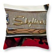 1957 Ford Skyliner Retractable Hardtop Emblem Throw Pillow
