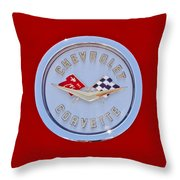 1958 Chevrolet Corvette Emblem Throw Pillow