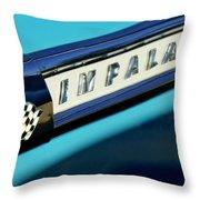 1959 Chevrolet Impala Emblem Throw Pillow