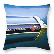 1960 Chevrolet Impala Emblem Throw Pillow