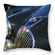 1961 Jaguar Mk II 3.8 Litre Automatic Throw Pillow