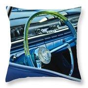 1961 Pontiac Catalina Steering Wheel Throw Pillow