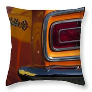 1965 Chevrolet Malibu Ss Taillight Emblem Throw Pillow