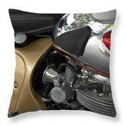 1966 Bsa 650 A-65 Spitfire Lightning Clubman Motorcycle Throw Pillow