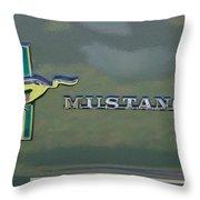 1966 Mustang Throw Pillow