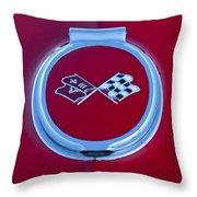 1967 Chevrolet Corvette Emblem Throw Pillow