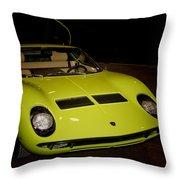 1968 Lamborghini Miura S Throw Pillow