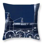 19th Century Locomotive Throw Pillow