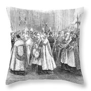 1st Vatican Council, 1869 Throw Pillow