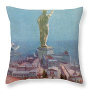 7 Wonders Of The World, Colossus Throw Pillow