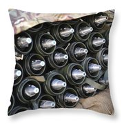 81mm Mortar Rounds Ready Stacked Ready Throw Pillow