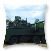 A Belgian Army Piranha IIic Throw Pillow by Luc De Jaeger
