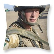 A British Army Soldier Provides Throw Pillow