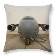 A C-17 Globemaster IIi Sits Throw Pillow
