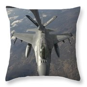 A Chilean Air Force F-16 Refuels Throw Pillow