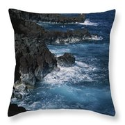 A Coastal View Of The Southeast Corner Throw Pillow