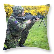 A Coldstream Guard Training In Scotland Throw Pillow
