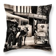 A Cowgirls Limousine Throw Pillow