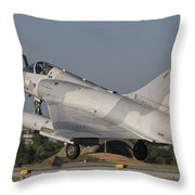 A Dassault Mirage 2000 Of The United Throw Pillow
