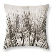 A Delicate World Monochrome Throw Pillow