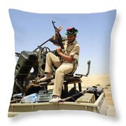 A Free Libyan Army Pickup Truck Throw Pillow