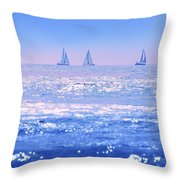 A Good Day For Sailing Throw Pillow
