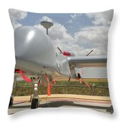 A Heron Tp Unmanned Aerial Vehicle Throw Pillow