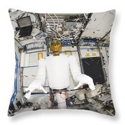 A Humanoid Robot In The Destiny Throw Pillow