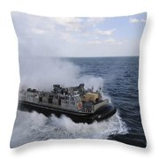 A Landing Craft Utility From Assault Throw Pillow