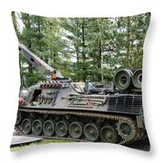 A Leopard 1a5 Mbt Of The Belgian Army Throw Pillow by Luc De Jaeger