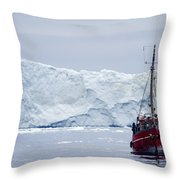 A Midnight Cruise Around The Ilulissat Throw Pillow
