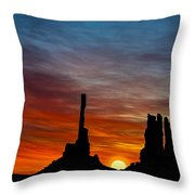 A New Day At The Totem Poles Throw Pillow