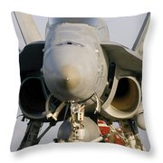 A Pilot Sits In The Cockpit Of An Throw Pillow