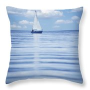 A Sailboat Throw Pillow