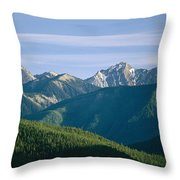 A Scenic View Of The Rocky Mountains Throw Pillow