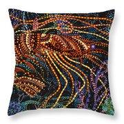 A Shrimp Throw Pillow