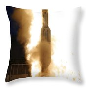 A Standard Missile 3 Is Launched Throw Pillow