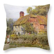 A Surrey Cottage Throw Pillow