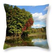 A Touch Of Autumn Throw Pillow by Kristin Elmquist