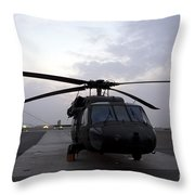 A Uh-60 Black Hawk Helicopter Throw Pillow