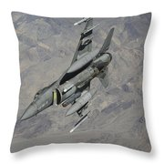 A U.s. Air Force F-16 Fighting Falcon Throw Pillow