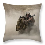 A U.s. Contractor Fires Throw Pillow