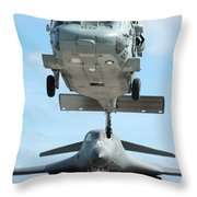 A U.s. Navy Mh-60s Seahawk Helicopter Throw Pillow