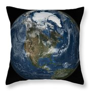 A View Of The Earth With The Full Throw Pillow