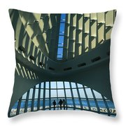 A View Of The Inside Of The Milwaukee Throw Pillow
