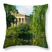 A View Of The Parthenon 17 Throw Pillow