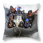 A Visit, Board, Search And Seizure Team Throw Pillow