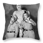Abbott And Costello Throw Pillow by Granger
