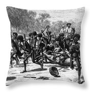 Aborigines, 19th Century Throw Pillow