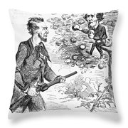 Abraham Lincoln Cartoon Throw Pillow